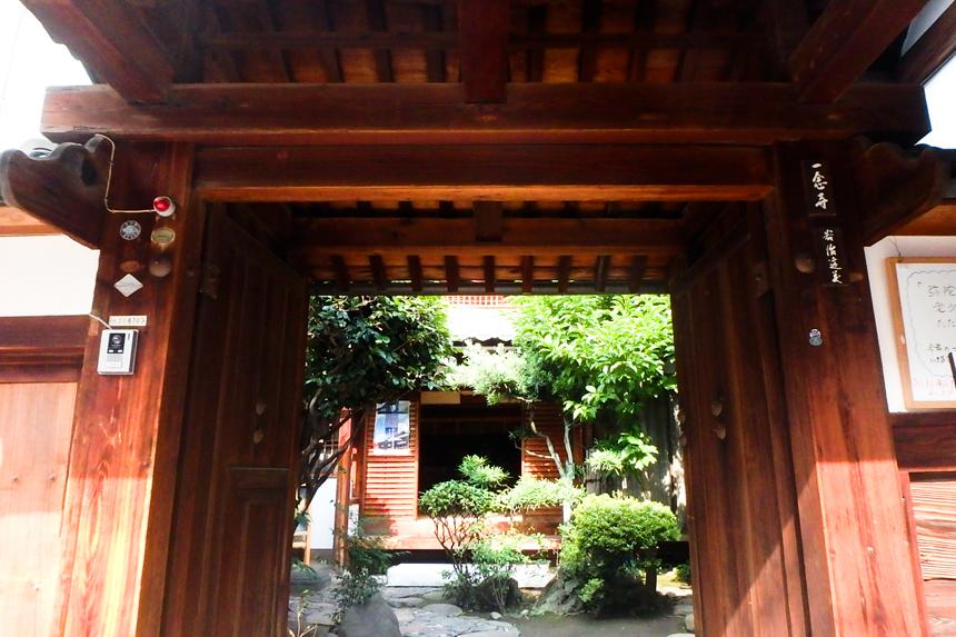 「今回会場を貸してくださった一念寺(いちねんじ)さん。京都市内とは思えないほどの静けさを感じられるお寺さんです。」