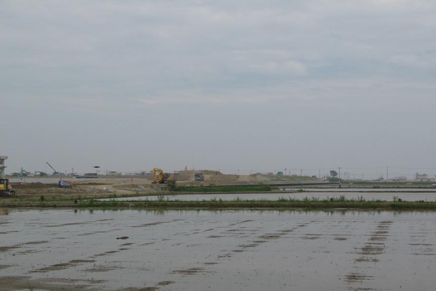 ボラ僧かつて津波が押し寄せた地区