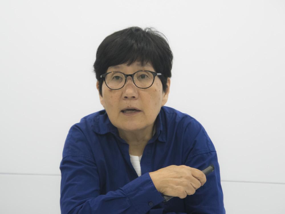 講義をする中村陽子先生