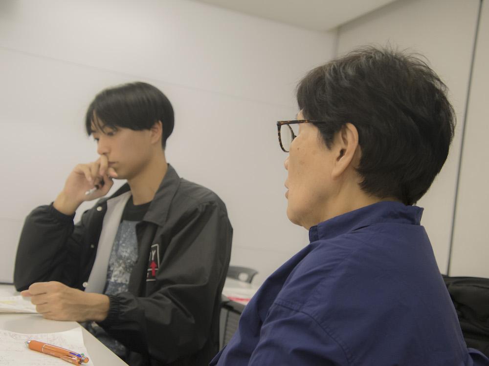 対話する足利さんと中村陽子先生